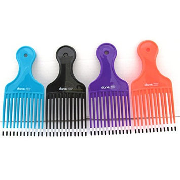 Mebco Large Double Dipped Pik L224D Color: Purple, Hair pick, pik, detangler, pocket comb, for all hair length and type, short and long hair, boys and girls, adults and kids, won't hurt your scalp, pulls the knots out of your hair, personal use, professional, salon, must have,