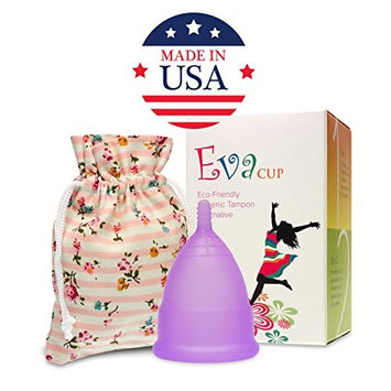 Anigan EvaCup, Top-Quality, Reusable Menstrual Cup, Eco-Friendly Alternative to Tampons, Lavender, Large