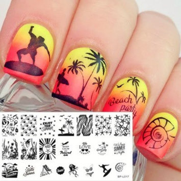 Born Pretty 8pcs L001-008 Nail Art Stamp Stamping Template Image Plates