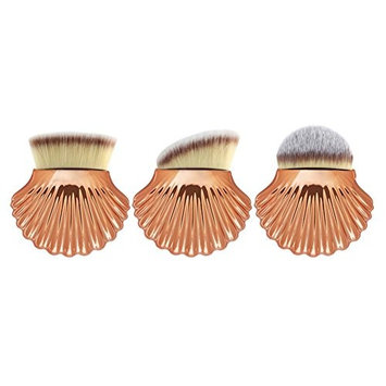 AFfeco 3pcs Big Shell Pro Makeup Brushes Powder Cosmetics Set Face Beauty Tool(5)
