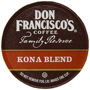 Don Francisco's Kona Blend, Premium 100% Arabica Coffee, Medium-Roast, Single-Serve Pods for Keurig, 12-Count, Family Reserve