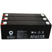 SPS Brand 12V 2.3 Ah Replacement Battery for Abbott Laboratories DEFIBRILLATOR DH1 (3 pack)
