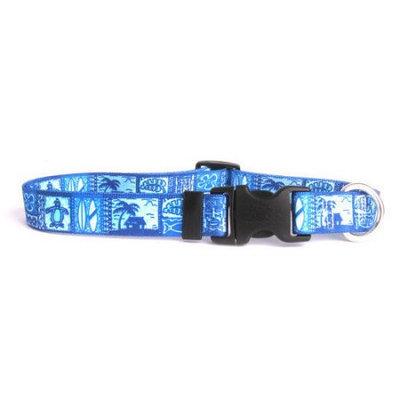 Yellow Dog Design TKB100XS Tiki Blue Standard Collar - Extra Small