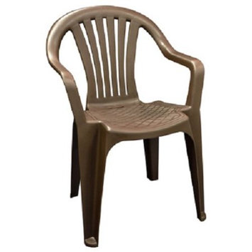 Adams Mfg Corp Earth Slat Seat Resin Stackable Patio Dining Chair 8234-60-4700