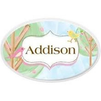 KidKraft Personalized Oval Wall Plaque - Birds