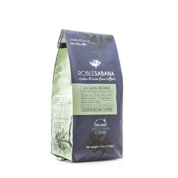 Eco Caraigres Agricola S.a. Specialty Coffee Roblesabana Costa Rica Single Origin Las Lajas Red Honey Organic Light to Medium Roast (12oz whole bean) - Caf © de Especialidad de Costa Rica (Pack of 6)