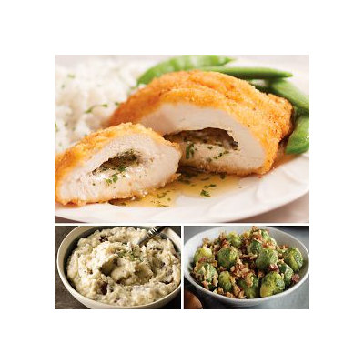 Omaha Steaks Chicken Kiev & Smashed Red Potatoes Feast