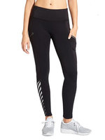 Athleta Womens Reflective Detail Powerlift Tight 2.0 Size L Tall - Black