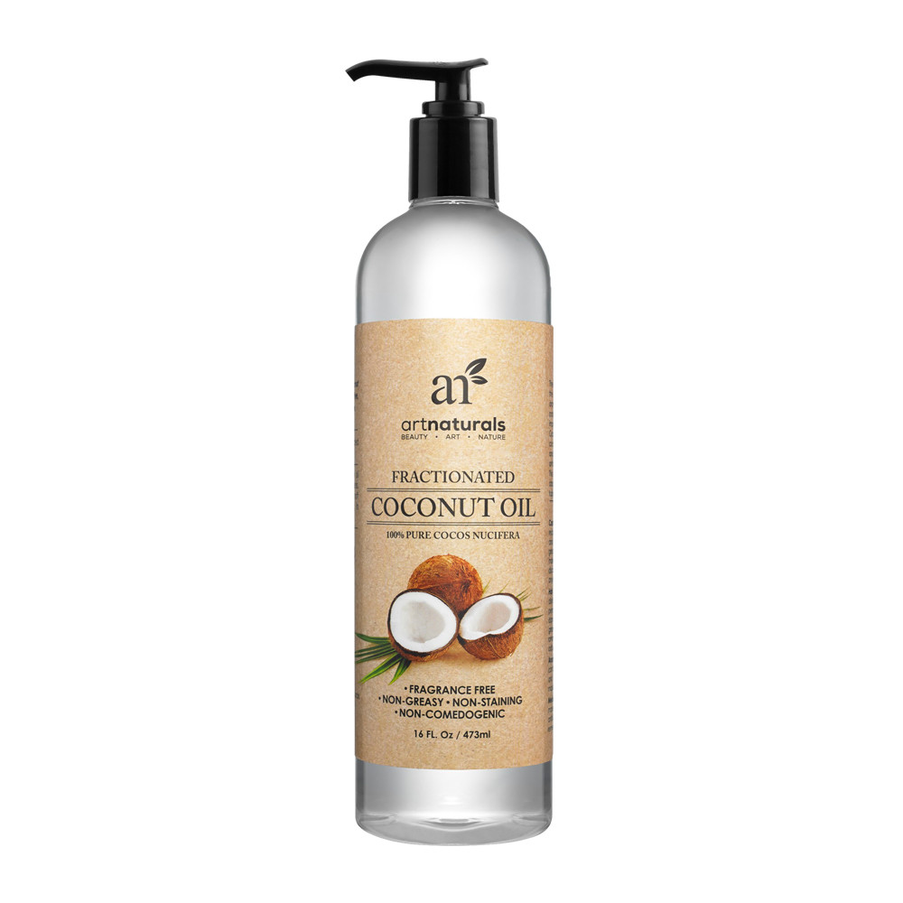 ArtNaturals Art Naturals Fractionated Coconut Oil 16 oz 100% Natural & Pure - Best Carrier / Massage Oil