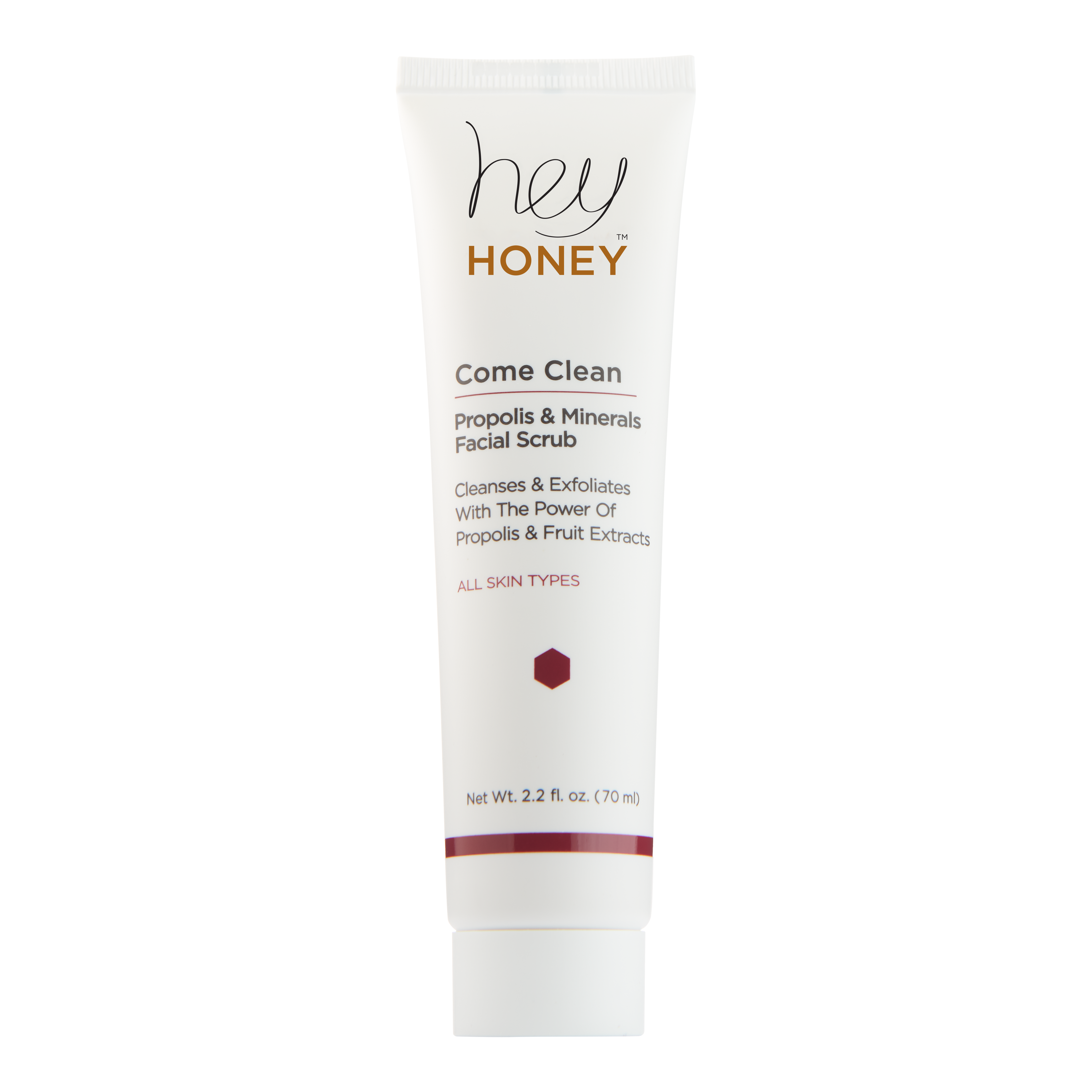 Hey Honey COME CLEAN Facial Scrub with Propolis & Minerals
