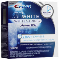 Crest 3D White Whitestrips, 2 Hour Express, 4 Treatments