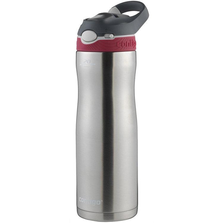 Ignite Usa Llc Contigo 20 oz. Ashland Chill Autospout Stainless Steel Water Bottle - Sangria
