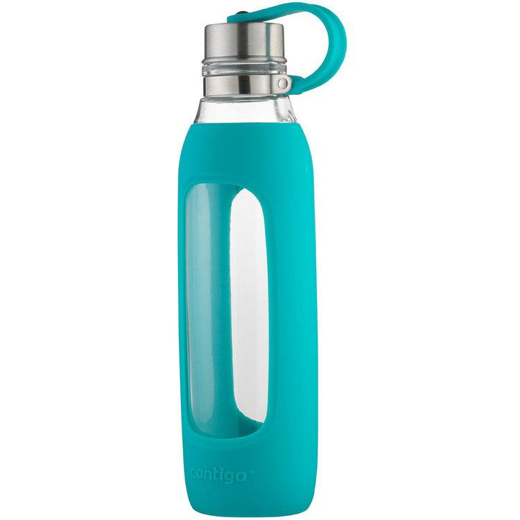 Ignite Usa Llc Contigo 20 oz. Purity Glass Water Bottle with Tethered Lid - Scuba