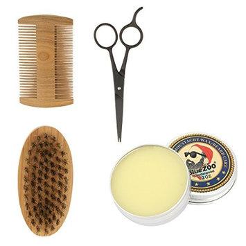 Homyl Beard Kit for Men Beard Growth Grooming Beard Taming Conditioner, Mustache & Beard Balm Wax, Beard Brush and Comb, Sharp Scissors Gift Set