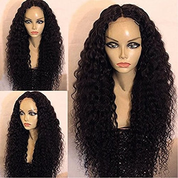 Vanessa Queen Black Color Synthetic Lace Front Wig Afro Kinky Curly For Black Women (28 Inch)