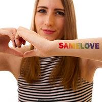 5 x SAMELOVE Rainbow Tattoo - big lettering, LGBT, Gay (5)