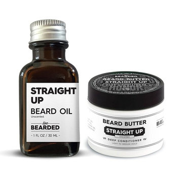 Unscented Beard Oil Kit | Live Bearded Made in USA |Straight Up Unscented Mens Beard Oil Kit [Unscented - Straight Up]