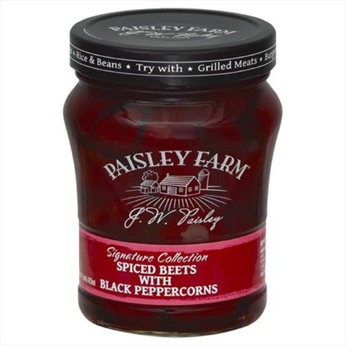 PAISLEY FARM BEETS SPICED W BLK PPRCRN-16 OZ -Pack of 6