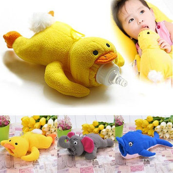 Infant Baby Feeder Bottle Case Cover Animal Plush Insulation Keep Warm MAEHE