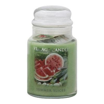 Village Candle Summer Slices 26 oz Glass Jar Scented Candle, Large