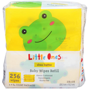 Little Ones L1 BABY WIPES SHEA 2.56C 256CT 4X REFIL