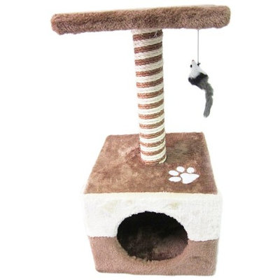 Easipet Cat Toy Scratch Post 300, Brown/Beige