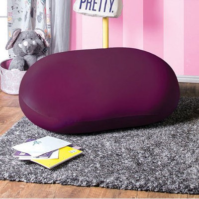 Benzara Rimrock Contemporary Bean Bag Chair, Purple