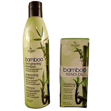 Bamboo Shampoo and Kendi Oil Treatment Bundle - 2 Items: 10 oz Shampoo and 1 oz Treatment Oil