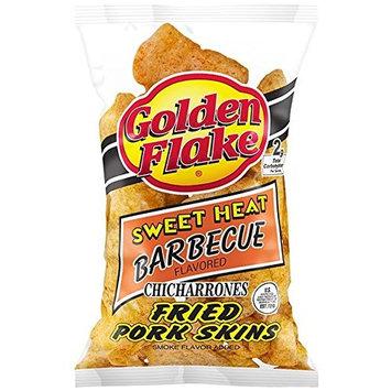 Golden Flake Snack Foods Sweet Heat Barbecue Flavored Fried Pork Skins 3.25 oz. Bag
