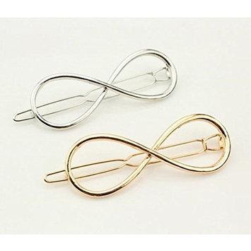 Cuhair Metal Leaf Hair Clamps/Hair Grips/Hair Clips Hair Pins Hair Accessories Set of 2