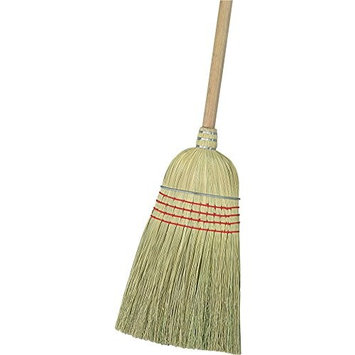 Carlisle 3685500 Flo-Pac Wood Handle Warehouse Broom, Corn Blend Bristle, 34 and 56