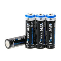 PowerMax US Seller 4 PCS BTY 2000mAh 1.2V AA Size Ni-MH Rechargeable Battery Batteries for Toys..., ship from USA,Brand WindMax