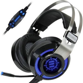 Accessory Power ENHANCE SCORIA Gaming Headset with USB 7.1 Virtual Surround Sound, Adjustable Bass Vibration