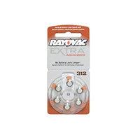 60 x Size 312 Rayovac Extra Advanced Hearing Aid Batteries