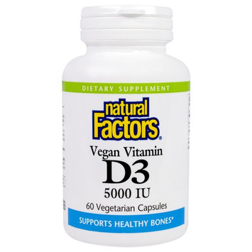 Natural Factors Vegan Vitamin D3 -- 5000 IU - 60 Vegetarian Capsules