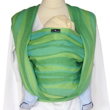 DIDYMOS Woven Wrap Baby Carrier Waves Lime (Organic Cotton), Size 5