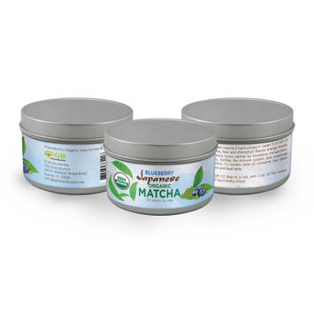 Gb Distribution Blueberry Japanese Organic Matcha, 100% USDA, Boosts Energy, Memory, Concentration, and Burns Calories, 28Gr.