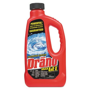 Drano Max Gel Clog Remover, Unscented, 1 qt. Bottle - Includes 12 per case.