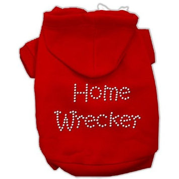 Mirage Pet Products Home Wrecker Hoodies, Red, X-Large
