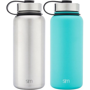 Simple Modern 32 oz. Summit Vacuum Insulated Stainless Steel Water Bottle, Caribbean (2 pk.)