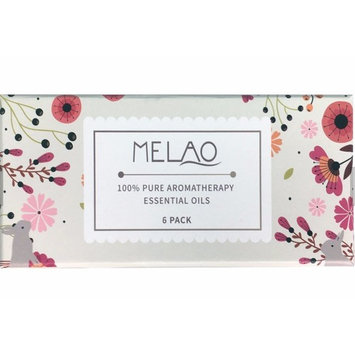 Melao Aromatherapy Oils - 100% Pure Therapeutic Grade Basic Set of the Top 6 Essential Oils (Eucalyptus, Lavender, Lemongrass, Orange, Peppermint, and Tea Tree) in Bottles of 10ml Each. New Packaging!