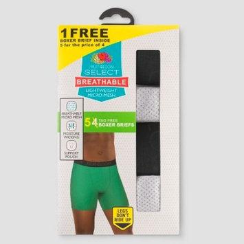 Fruit of the Loom® Men's Select Breathable 2.0 4+1pk Boxer Briefs - Black/Gray L