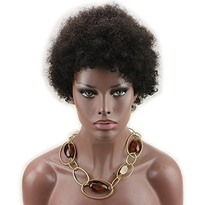 Dreambeauty Short Afro Kinky Curly Human Hair Wigs 100% Brazilian Remy Human Hair Short Kinky Curly None Lace Full Wig for African American Women