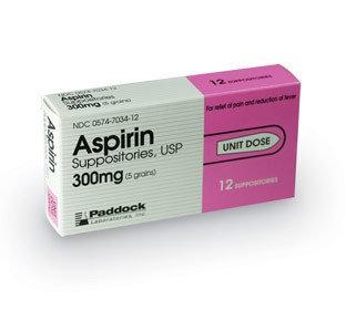 Perrigo Company Aspirin Suppositories Pain Relief