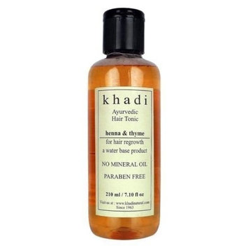 Khadi Ayurvedic Hair Tonic Henna & Thyme Hair Regrowth 210 ml