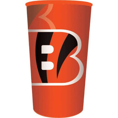 Hoffmaster Group 119507 20 by 1 Count Cincinnati Bengals 22 oz Plastic Favor Cup - Case of 20