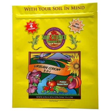Soil Science Products, Llc Soil Science Products Llc 831-4 4 Lb Urban Grow 8-3-1