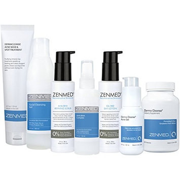 ZENMED Complete Acne Kit - All Natural Day & Night Treatment for Sensitive Troubled Oily and Dry Skin
