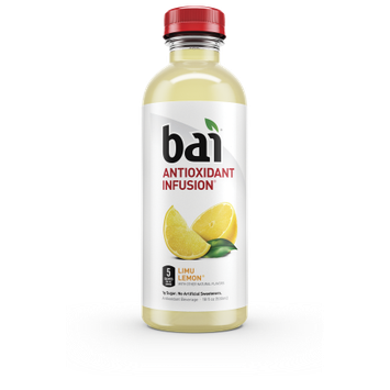 B.a.i. Bai Limu Lemonade, 5 calories, 100% Natural, Antioxidant Infused Beverage, 18oz, 12pk
