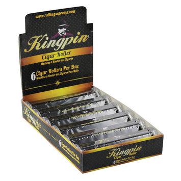 6pc Kingpin 125mm Cigar Hand Roller Display